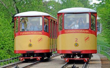 Für die Sommermonate werden die Betriebszeiten der Turmbergbahn von 18 Uhr auf 20 Uhr ausgeweitet (Foto: VBK/Uli Deck)