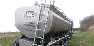 Festfgefahrener Tankzug