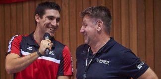Alexander Burchartz (li.) mit Cheftrainer Dirgo Ronconi (Foto: Andreas Arndt)