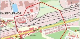 Evakuierungsgebiet Bombenentschäfung KL