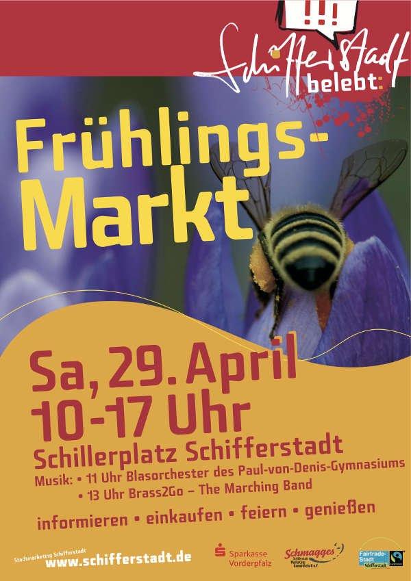 Frühlingsmarktankündigung (Quelle: Stadtverwaltung Schifferstadt)