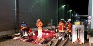 Einsatz in einem Industriebetrieb (Foto: Feuerwehr Weingarten)
