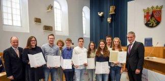 Jugend debattiert_Landesfinale RLP_26.04.2017_Finalisten_Foto Landtag Rheinland-Pfalz