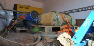 Die am 09.04.17 in Einsiedlerhof entschärfte Bombe (Foto: Stadtverwaltung Kaiserslautern)