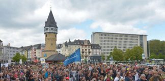 OB Peter Feldmann beim March of Science (Foto: Bernd Kammerer)