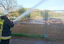 Das Pumptrack-Gelände wurde von der Feuerwehr gewässert (Foto: Stadtverwaltung Groß-Umstadt)