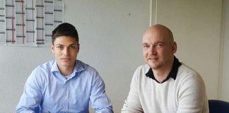 Morris Nag (l.) und SVW-Geschäftsführer Markus Kompp (Foto: SV Waldhof Mannheim 07 Spielbetriebs GmbH)