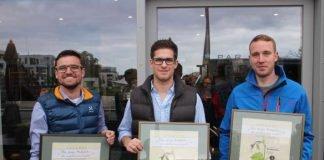 Die Gesamtsieger der jungen Südpfalz - v.l.: Jürgen Graf, Christian Hartmann und Michael Kern (Foto: Südliche Weinstrasse e.V.)
