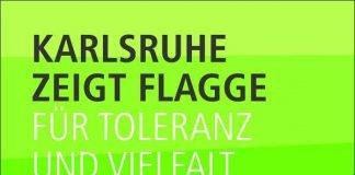 """FLAGGE ZEIGEN: """"Für Toleranz und Vielfalt"""" wirbt eines der vier Motive der Kampagne (Grafik: Stadt Karlsruhe)"""