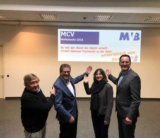 Von links: MCV-Ehrenpräsident Dr. Rudolf Henkel, MCV-Präsident Reinhard Urban, MVB-Generalbevollmächtigte Barbara Bug-Naumann und der Oberbürgermeister der Stadt Mainz, Michael Ebling. (Foto: Agentur Bonewitz)
