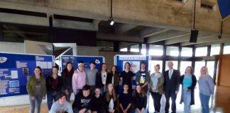Schülerinnen und Schüler präsentieren Arbeiten zu den Themen Europa und Architektur