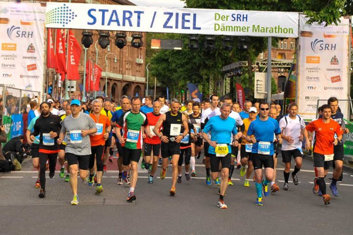 Foto vom SRH Dämmer Marathon 2016 (Foto: Rhein Neckar Picture)