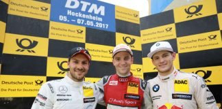 # 11 Marco Wittmann (GER, BMW Team RMG, BMW M4 DTM), # 53 Jamie Green (GBR, Audi Sport Team Rosberg, Audi RS5 DTM), # 2 Gary Paffett (GBR, HWA AG, Mercedes-AMG C63 DTM) (Foto: ITR GmbH)