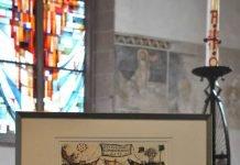 Der Landauer Ehrenamtspreis wird in diesem Jahr zum zweiten Mal verliehen. Genau wie die Landauer Tafel im ersten Jahr darf sich auch der Förderverein der Katharinenkapelle als zweiter Preisträger über eine von Künstler Xaver Mayer individuell gestaltete Grafik freuen. (Foto: Stadt Landau in der Pfalz)