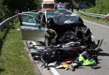 Tödlicher Verkehrsunfall bei Lindenberg (Foto: Polizei RLP)
