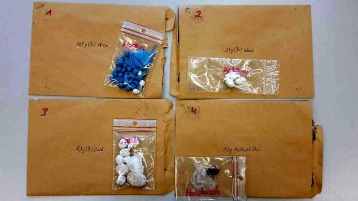 Aufgefundene Drogen