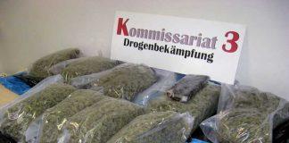 Insgesamt 9 Kilo Marihuanapollen sowie eine 1 Kilo schwere Haschischplatte wurden im Auto eines Tatverdächtigen gefunden.
