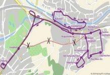 Umleitung am 27.05.17 (Grafik: VBK)