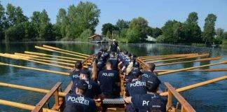 Fahrt mit der Lusoria Rheana (Foto: Bundespolizei)
