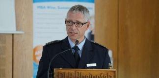 Polizeidirektor Harald Brock bei der Amtseinführung als Leiter Polizeidirektion Neustadt (Foto: Holger Knecht)