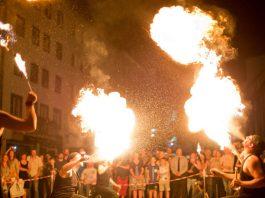Feuershow (Foto: Bernward Bertram)