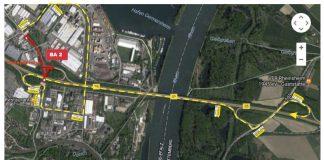 Umleitungen Hafen BA 2 (Grafik: LBM Speyer)