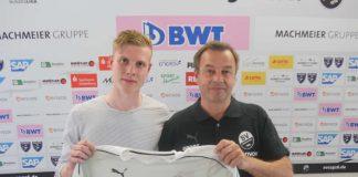 Ken Gipson mit SVS-Geschäftsführer Otmar Schork (Foto: SV Sandhausen)