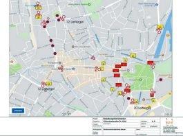 Verkehrsführung und Absperrungen bei den Trauerfeierlichkeiten für Altbundeskanzler Dr. Helmut Kohl (Bild: Stadtverwaltung Speyer)