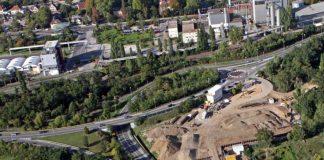 Luftbild Ingelheim, Boehringer Brücke, 2013