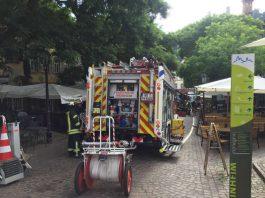 Feuerwehreinsatz am Marktplatz (Foto: Ralf Mittelbach)