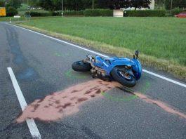 Unfall-Motorrad