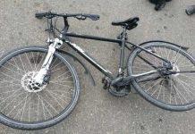 Unfallbeschädigtes Fahrrad