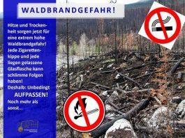 In Wald- und Wiesengebieten gilt jetzt: Erhöhte Vorsicht! Oder wollen Sie, dass es so aussieht wie auf dem Symbolbild im Hintergrund?