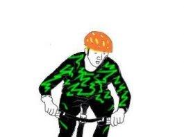 Wer erkennt dieses Trikot und kann Angaben zur Person des Radfahrers machen?