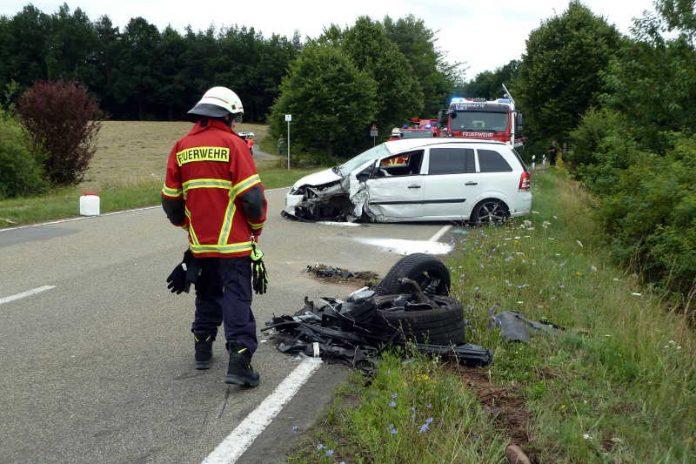 Bergungsarbeiten Unfall Schneckenhausen
