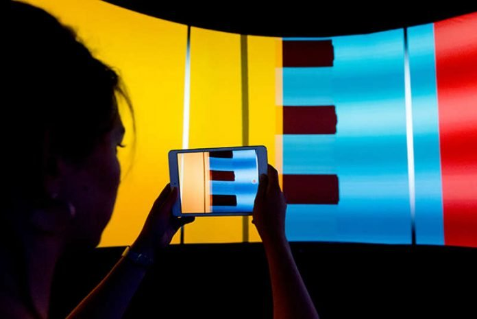 360-Grad-Projektionsumgebung, die das ZKM seit 2005 bereits entwickelt (Foto: Felix Grünschloß 2017)