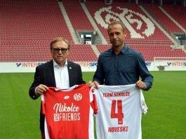 Johannes Kaluza und Nikolče Noveski (Foto: twitter.com/1FSVMainz05)
