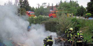 Gartenhausbrand in der Friedrichsfelder Straße
