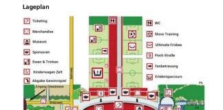 Lageplan zur Saisoneröffnungsfeier (Quelle: Eintracht Frankfurt)