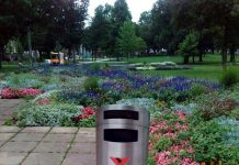 Stadtpark Mülleimer