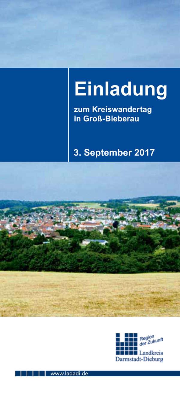Kreiswandertag 2017 in Groß-Bieberau