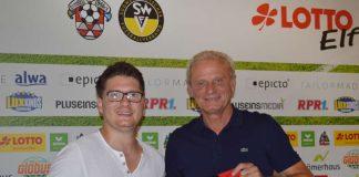 Fabian Pozywio (links) mit Fußball-Europameister Hans-Peter Briegel, der früher auch beim 1. FC Kaiserslautern spielte (Foto: TAILORMADE)