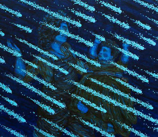 Magnus Andersen, L'éducation régional, 2017 Acryl und Öl auf Leinwand, Alu-Core-Rahmen, Courtesy: Der Künstler und Neue Alte Brücke, Frankfurt am Main