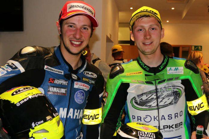 Marvin Fritz (Neckarzimmern/links) wurde WM-Dritter und Jan Bühn (Kronau) belegte als bester BMW-Pilot den 14. Gesamtrang (Foto: Hermann Rüger)