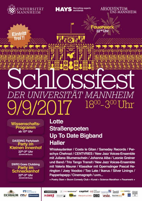 Veranstaltungsplakat (Quelle: Universität Mannheim)