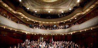 Mitarbeiter/Innen im Alten Saal Theater Heidelberg anlässlich der Spielzeiteröffnung 2017|18 (Foto: Sebastian Bühler)
