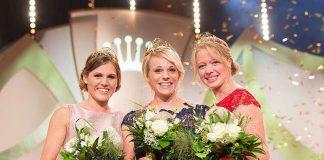 Weinkönigin Katharina Staab (mitte), Prinzessin Laura Lahm (links) und Prinzessin Charlotte Freiberger (rechts) (Foto: DWI)