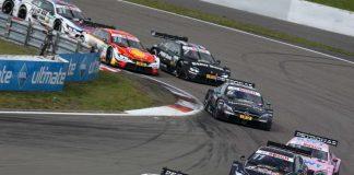 Bildunterschrift/Beschreibung: #3 Paul Di Resta, Mercedes-AMG C 63 DTM, #11 Marco Wittmann, BMW M4 DTM (Foto: Gruppe C / Hoch Zwei)
