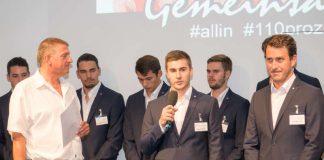 Pascal Bührer bei der Teampräsentation (Foto: Harry Reis)