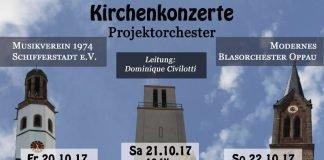 """Dirigent Dominique Civilotti studiert mit dem Modernen Blasorchester """"Kurpfalz"""" Oppau (MBO) konzertante und klassische Werke für die Kirchenkonzertreihe (20.-22. Oktober 2017) ein. (Foto: MBO)"""